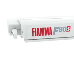 Fiamma F80 S Roof Awning - Polar White Case