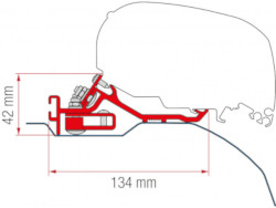 Fiamma Kit F80 Ducato H2 Aft 06 - Low Profile